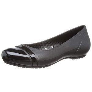 Crocs (9) Black Toe Cap Ballet Flats